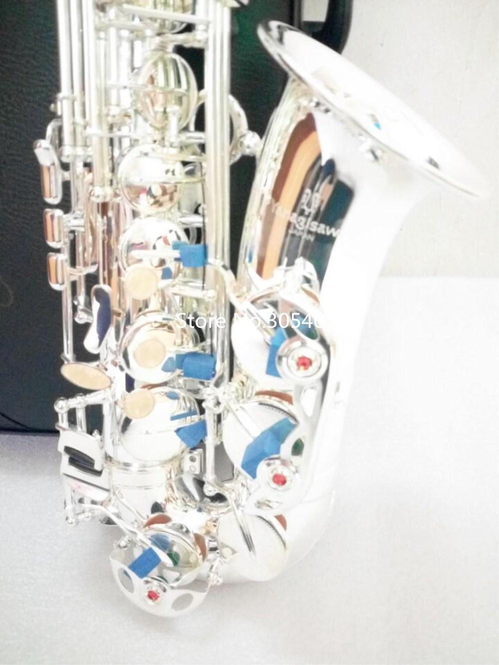 High Quality Brand NEW YANAGISAWA WO37 Alto Saxophone Silver Plated Professional Sax Mouthpiece With Case Free shipping free shipping new high quality tenor saxophone france r54 b flat black gold nickel professional musical instruments