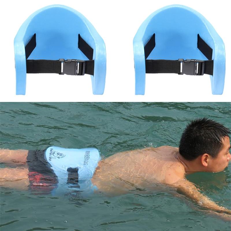 1pcs eva adjustable back floating foam swimming belt waist training equipment adult children for Flotation belt swimming pool exercise equipment