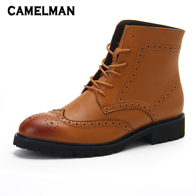 Leather Men Boots Autumn Winter Ankle Boots Fashion Footwear Lace Up Shoes High Quality Vintage High Top Men Martin Boots Shoes genuine leather men boots autumn winter ankle boots fashion footwear lace up shoes men high quality vintage men shoes qy5