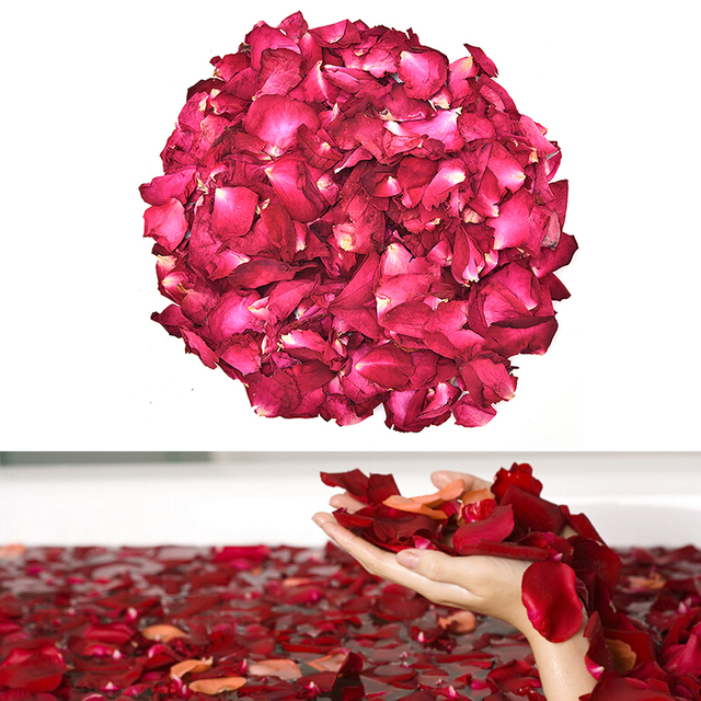 US $1 39 16% OFF|30/50/100g Dried Rose Petals Natural Dry Flower Fragrant  Bath Spa Shower Tool Whitening Bath Beauty Body Foot Skin Care-in Bath from