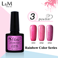 3pcs UV Gel Brand Gelartist Rainbow Gel Polish Soak Off  Gel UV Colors Nail Polish 12 colors for choose
