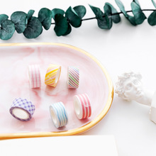 24 pcs Candy color decoration washi tape set 10mm Basic color pink yellow green blue washi tapes stickers Fresh Stationery FJ012 cute pill style correction tapes green blue deep pink purple yellow 5 pcs