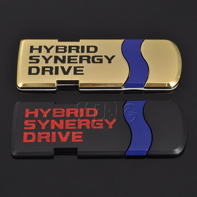 Автомобильная наклейка эмблема авто значок наклейка для Toyota Гибридный синергический привод письмо Prius Camry Rav4 Корона Auris автостайлинг аксесс...