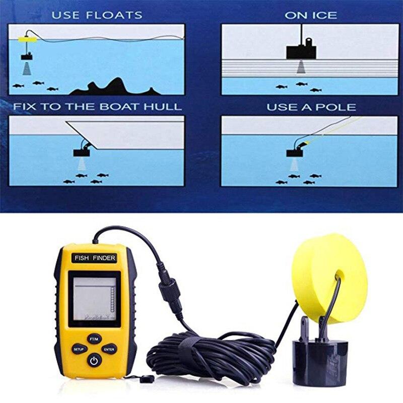 Fish Finder Handheld Fishfinder Fishing Camera Wired Sonar Fish Sensor Transducer Deeper Underwater Hunting Echo Sounder (10)