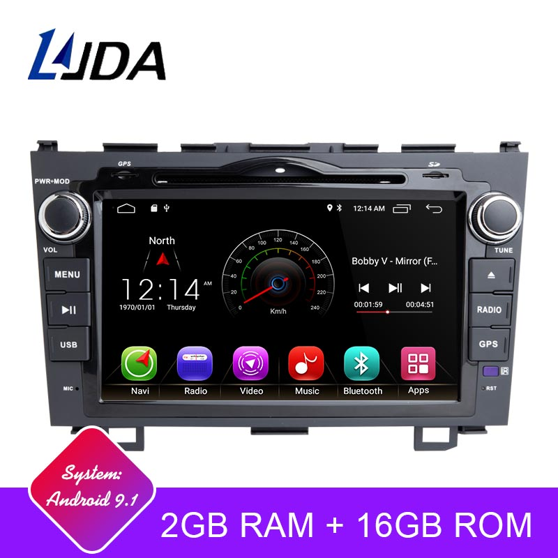 LJDA 2 Din Android 9.1 Car Radio For Honda CRV CR V CR-V 2006-2011 Car Multimedia Player Stereo Auto Audio GPS DVD Video IPS RDS