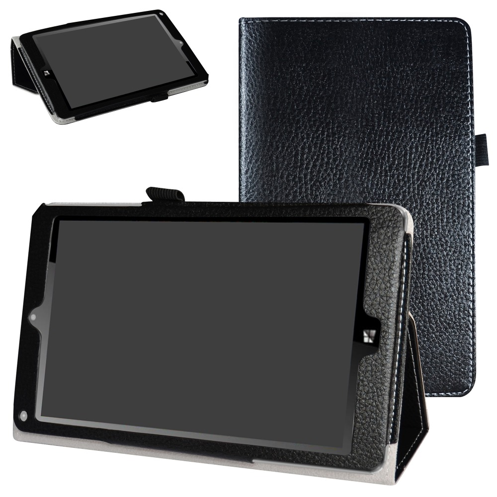 New Folio Stand Cover Flip PU Leather Shockproof  Case For 8.0