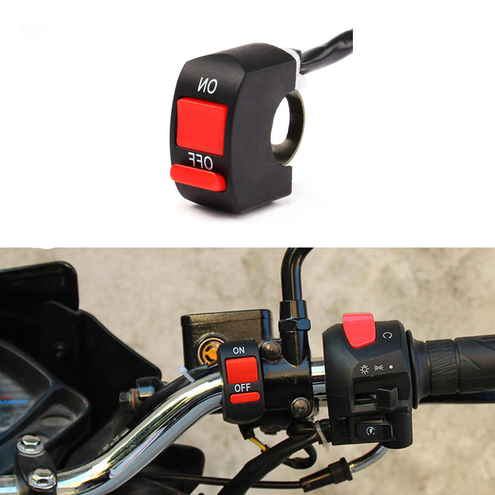 Universal ON/OFF Button Connector Push Button Switch Motorcycle Switches Handlebar Switches Motorbike Accessories
