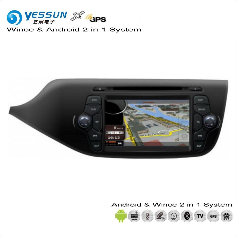 YESSUN For KIA Ceed 2013~2017 Car Android Navigation Radio CD DVD Navi Map Audio Stereo Video GPS Player Screen 2 in 1 System