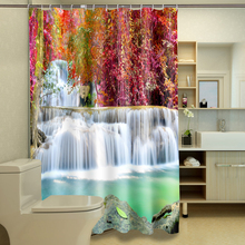 3d View Shower Curtains Bathing in the waterfall Pattern Bathroom Curtain Waterproof Thickened Bath Curtain Customizable
