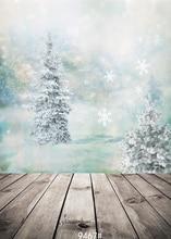 Neve Natal Adereços Fotografia Vinil pano de Fundo Estúdio de Fotografia 5x7ft Backdrops high150x210cm ampla