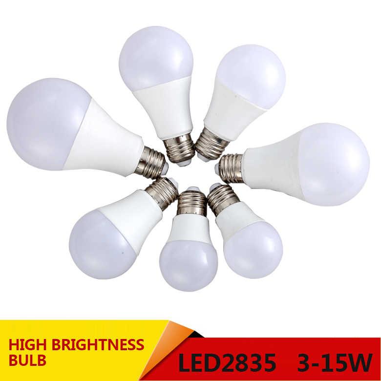 LED Bulb Lamp Smart IC E27 1W 3W 5W 7W 9W 12W 15W 220V LED Lampada Ampoule Bombilla High Brightness LED Light SMD2835