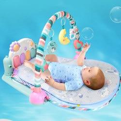 Детский игровой коврик, Развивающие коврики, детские ковры, игрушки для новорожденных, детский коврик для пианино, Музыкальная погремушка, ...