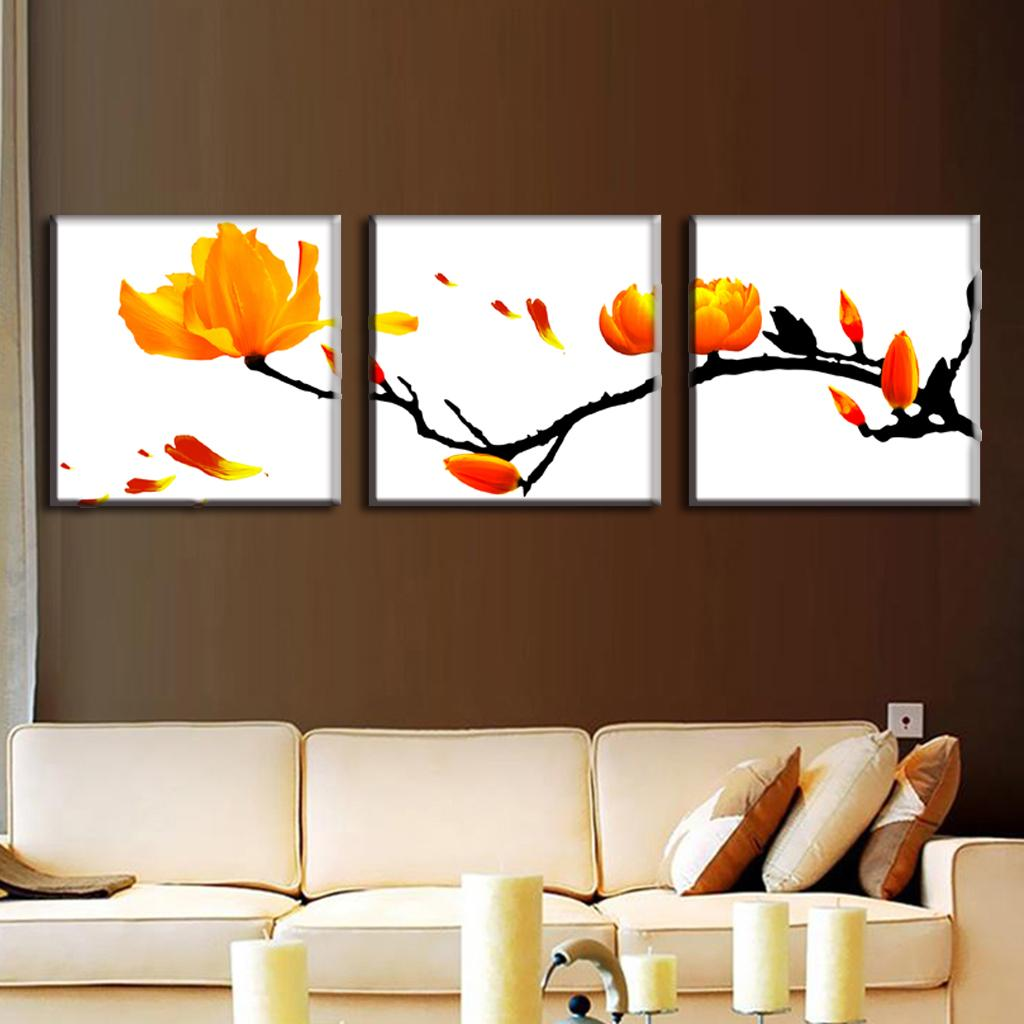Buy 3 pcs set modern wall paintings for Where to buy framed art