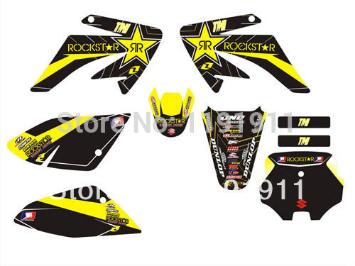 3m crf70 graphics kit rockstar decals sticker for honda moto dirt pit bike parts crf70 yellow. Black Bedroom Furniture Sets. Home Design Ideas