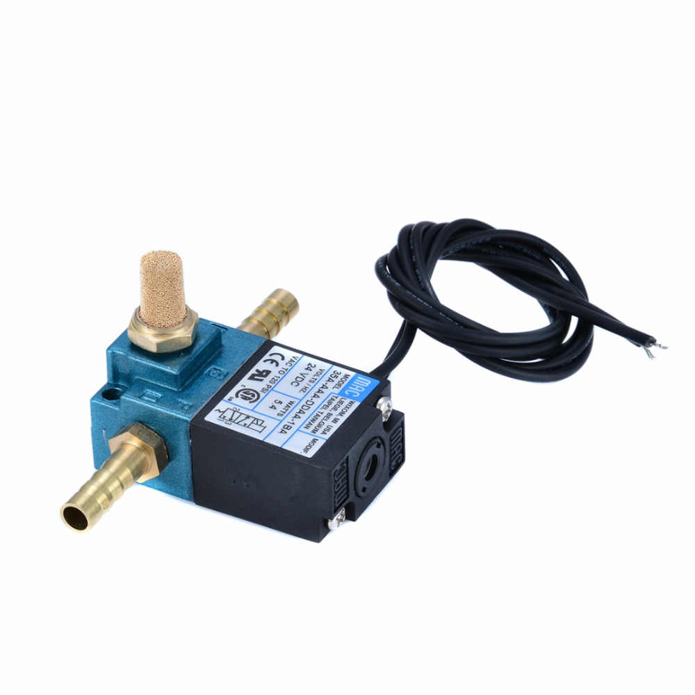 Solenoid Valve 3 Port Electronic Boost Control with Brass Fittings Electric Solenoid Valve for Boost Controller 35A-AAA-DDBA-1BA