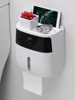 New Design toilet paper holder creative plastic bath toilet paper holder wall mounted paper storage box toilet tissue dispenser