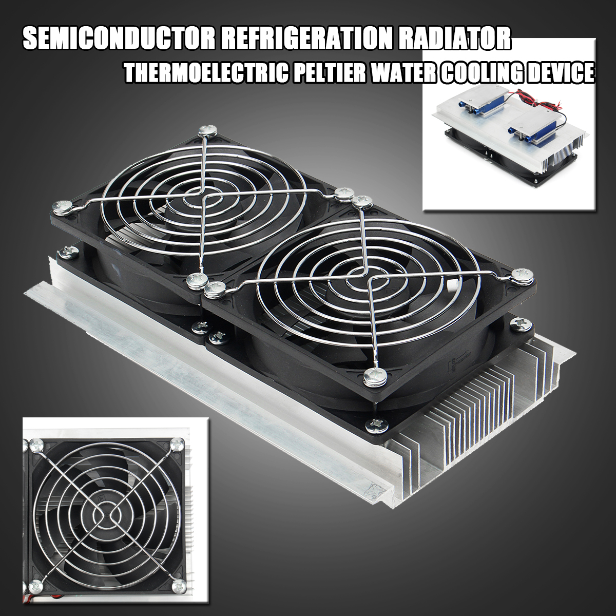 DC12V 120W Semiconductor Refrigeration Thermoelectric Refrigeration Cooler System Water Cooling Equipment Double Fan DIY special offer xd 2030 refrigeration unit module semiconductor cooling chiller refrigeration unit 240w