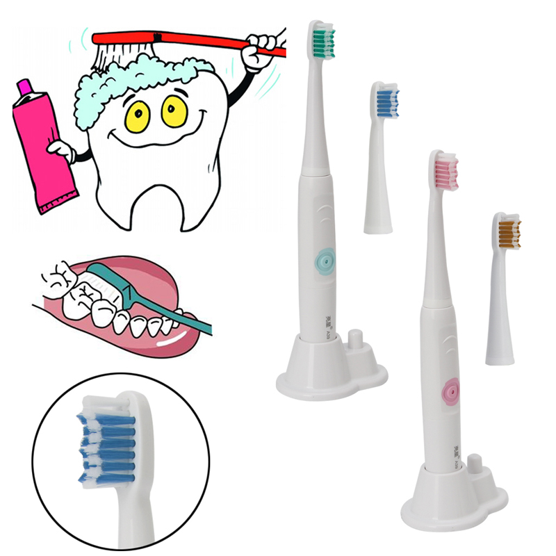 Electric Toothbrush Ultrasonic Sonic Electric Toothbrush USB Charge Rechargeable Tooth Brushes With Replacement Heads Timer Brus 2pcs philips sonicare replacement e series electric toothbrush head with cap