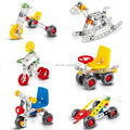 Creative DIY Toys For Kids Iron Building Blocks Bricks Set Learning Education Boys & Girls Toys Vehicles Great Gifts 6 Models
