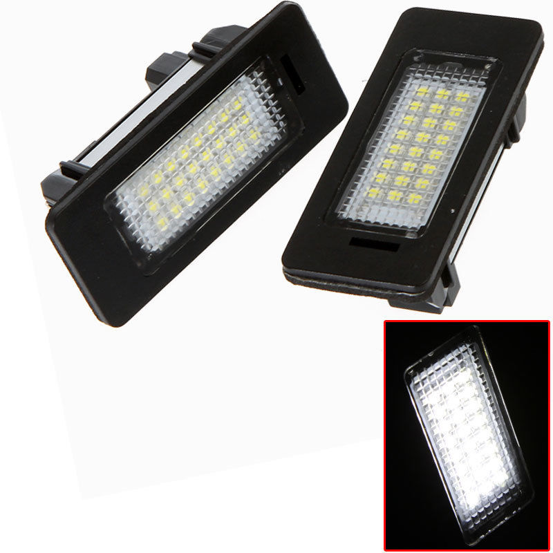 2x License Plate Light Lamps 24 3528 LED Error Free for BMW E39 E61 E90 5 Series