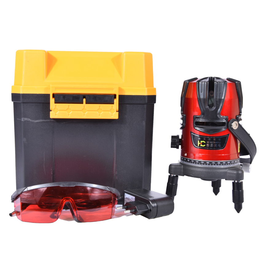 8 Lines 9 Point Laser Level (4V4H9P) Rotary Cross Level Laser Line (Self Levelling Within 3 Degrees) LL01 firecore a8846 mini 4 lines 360 degrees red laser level auto self levelling in the range of 3 degrees