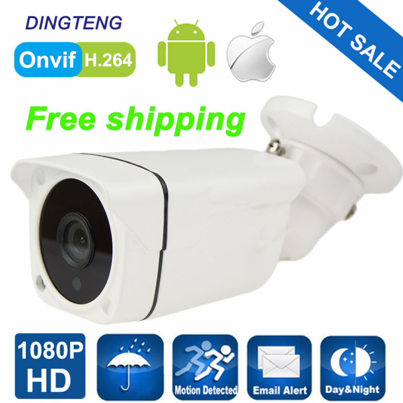 CCTV Network Camera 1920*1080P 2.0MP Mini Bullet IP Camera ONVIF Waterproof Outdoor IR CUT Night Vision P2P Plug and Play yunsye new 1920 1520 4 0mp onvif waterproof outdoor ir cut night vision plug and play mini bullet ip camera free shipping