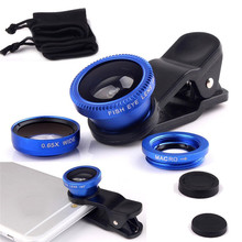 Common three in 1 Fish Eye Lenses Broad Angle Macro Cellular Cellphone Lens For Samsung Galaxy S2 S3 S4 S5 S6 S7 S8 Edge Word 2 three four 5 7