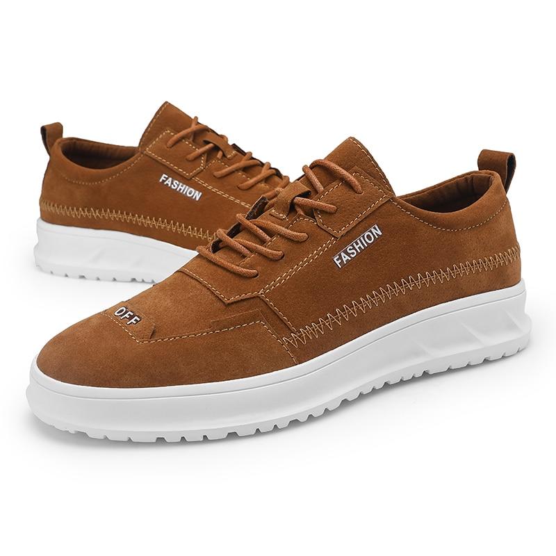 light Wearable Homens Não Ao Coreano cinza Sapatos deslizamento Brown Dos Moda Livre Preto Ar 1fZwgSPq
