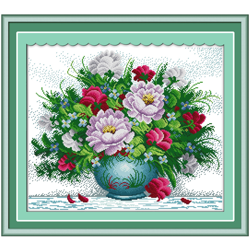 ᗚAmaranthine rosas Pegatinas para uñas contó la puntada cruzada ...