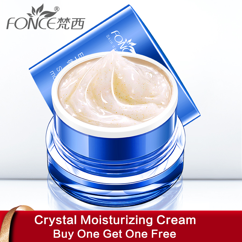 Fonce Crystal moisturizing cream Nano Gold Particles Energy Day Cream Simple makeup Hydrating Facial Cream Brighten Skin 50g