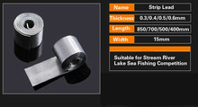 2pcs Fishing Lead Sheet Strip Sinker Tin Roll Fishing Accessories Tackle 0.3mm 0.4mm 0.5mm 0.6mm Lake Sea Lure Fishing GYH