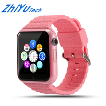 ZhiYuTech Children Security Anti-lost GPS Tracker Waterproof Smart Watch V7K With Camera Kids SOS Emergency For Iphone&Andro