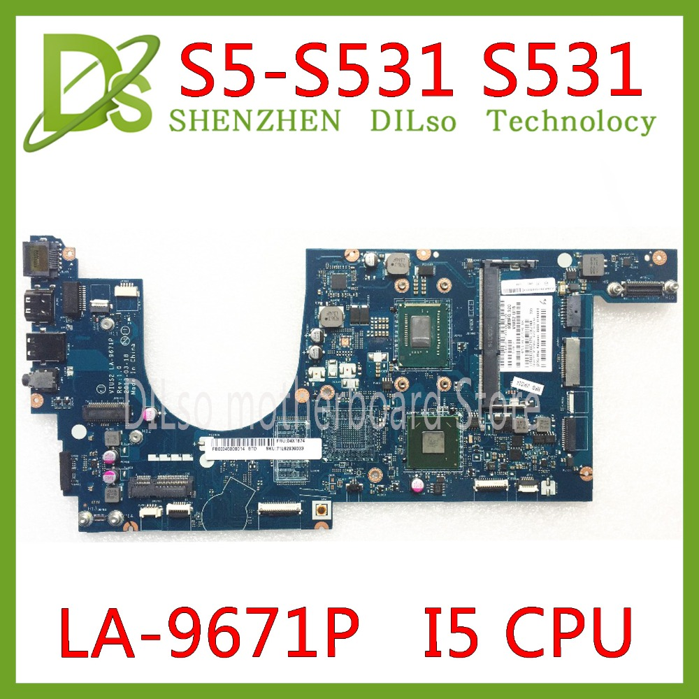 KEFU S5-S531 scheda madre per Lenovo THINKPAD S531 S5-S531 mainboard Per I5 CPU scheda madre LA-9671P di Prova originale di 100% di lavoroKEFU S5-S531 scheda madre per Lenovo THINKPAD S531 S5-S531 mainboard Per I5 CPU scheda madre LA-9671P di Prova originale di 100% di lavoro