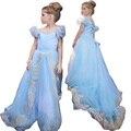 KEAIYOUHOU 2017 Niñas Vestidos de Cenicienta Vestido de Pascua Traje Para Niños Niñas Vestido de la Princesa Fiesta de Cumpleaños Vestido de Ropa de Las Muchachas