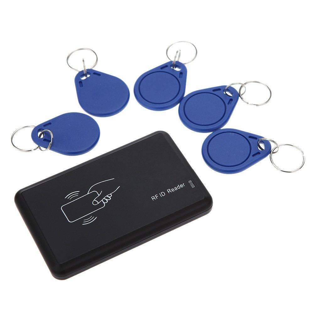 YOC 5psc/lot sans Contact 14443A lecteur de carte D'IDENTITÉ avec l'interface D'USB 5 pièces carte + 5 pièces porte-clés 13.56 MHZ RFID