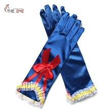 MUABABY/Аксессуары для костюмированной вечеринки принцессы для девочек, перчатки Белоснежки с принтом и перчатки для стрельбы из лука для девочек от 2 до 10 лет, красивый подарок на день рождения