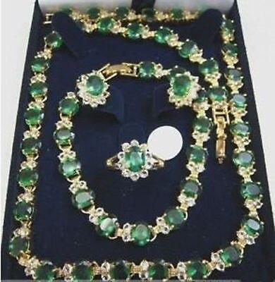 Красивый изумрудный Цепочки и ожерелья браслет серьги кольцо> * кварцевые часы оптом камень CZ кристалл