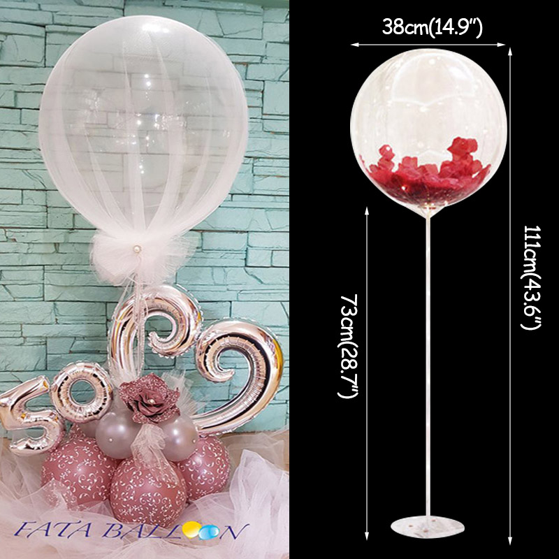 Wedding Decoration Table Balloon Stand Holder Balloons Stick Floating Baloon Supporting Rod Birthday Party Decoration Adult Kids-in Ballons & Accessories from Home & Garden