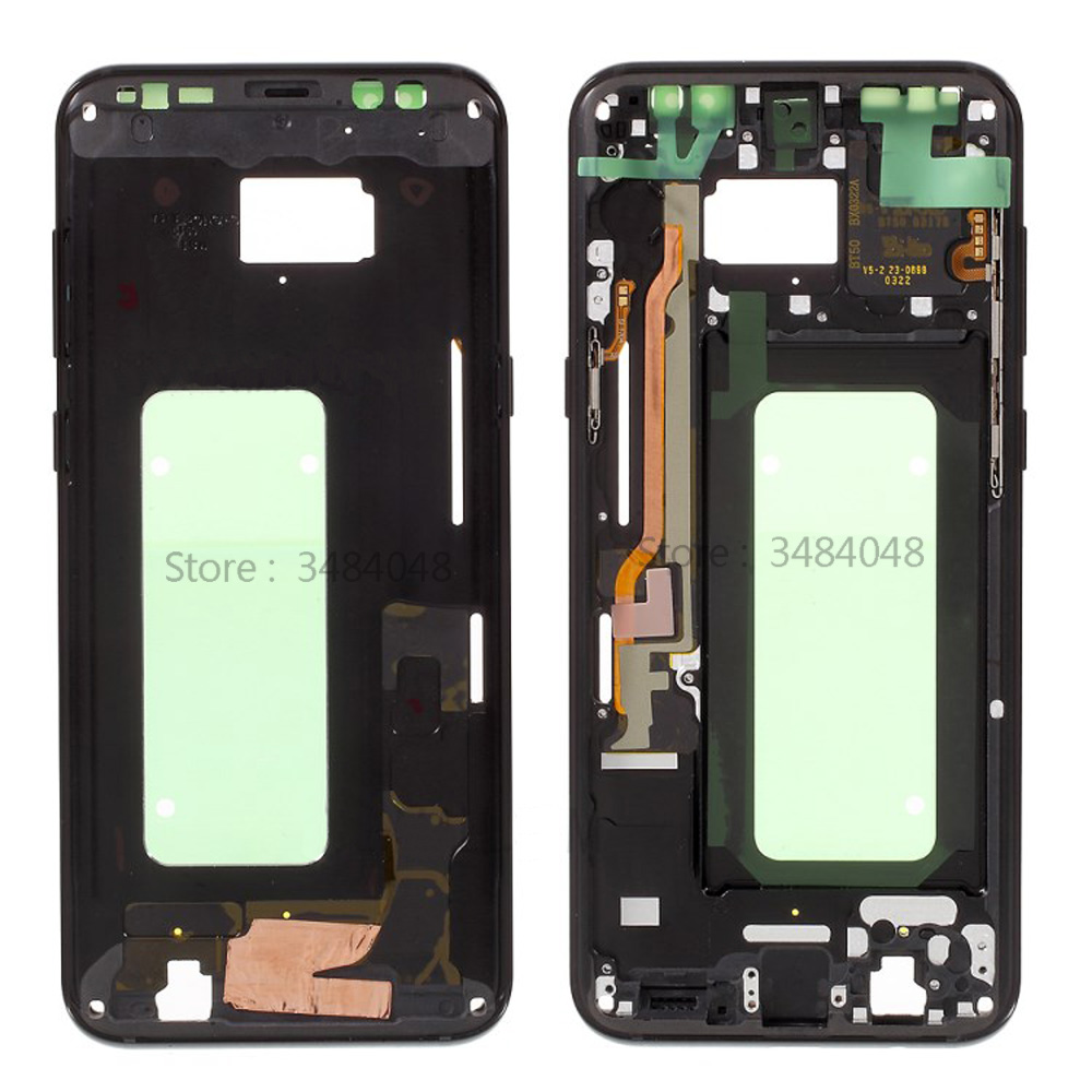 New LCD Display Middle Frame Bezel Chassis Plate With Side Button For Samsung Galaxy S8+ S8 Plus G955 G955F