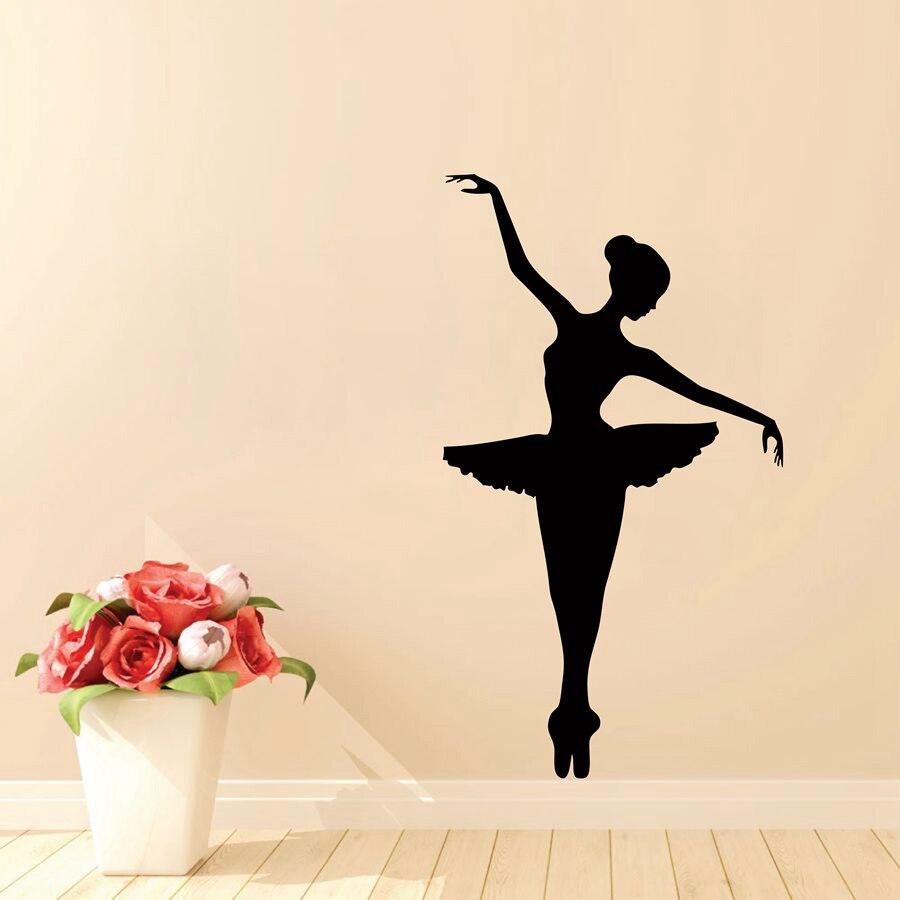 Ballet wall decor art stickers , Ballerina Ballet Dancer Vinyl Wall Sticker Art Decorative Decal For Girls Room Decor
