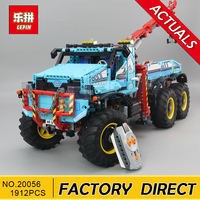 Lepin 20056 Technic Series The Ultimate All Terrain 6X6 Remote Control Truck Set Building Blocks Bricks Toy Clone 42070
