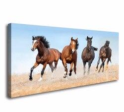 Wydruki na płótnie Wall Art konia zdjęcia dla pokoju gościnnego domowe dekoracje do sypialni Drop shipping|Malarstwo i kaligrafia|   -