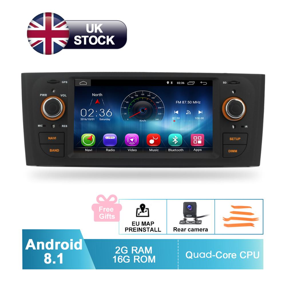 Image 2 - Android 8.1 Car Audio Video For Fiat Grande Punto Linea 2007 2008 2009 2010 2011 2012 GPS Navigation Radio Rear Camera No DVD-in Car Multimedia Player from Automobiles & Motorcycles