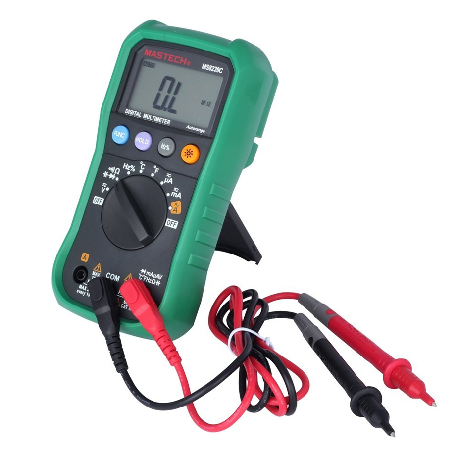 Selling Digital Multimeter MASTECH MS8239C AC DC Voltage Current Capacitance Frequency Temperature Tester Auto range multim mastech ms8250a digital multimeter auto range tester detector