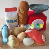 Gourmet toys fruit basket Felt kit Non woven cloth Craft DIY Sewing set Felt Handwork Material DIY needlework supplies