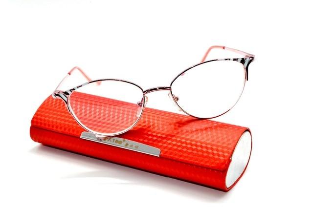 b089590b190 cat eye Titanium Alloy super light pink Spectacle ladies Reading Glasses  +4.5 +5 +