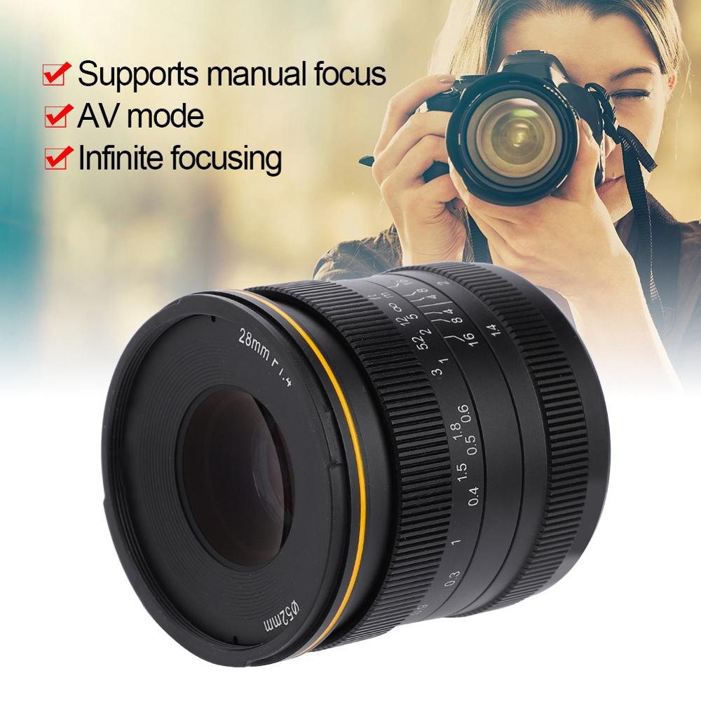 Kamlan 28mm F1.4 Wide Angle APS-C Manual Lens For Mirrorless Cameras For -M Sony Fuji M4/3 Canon Camera Lens