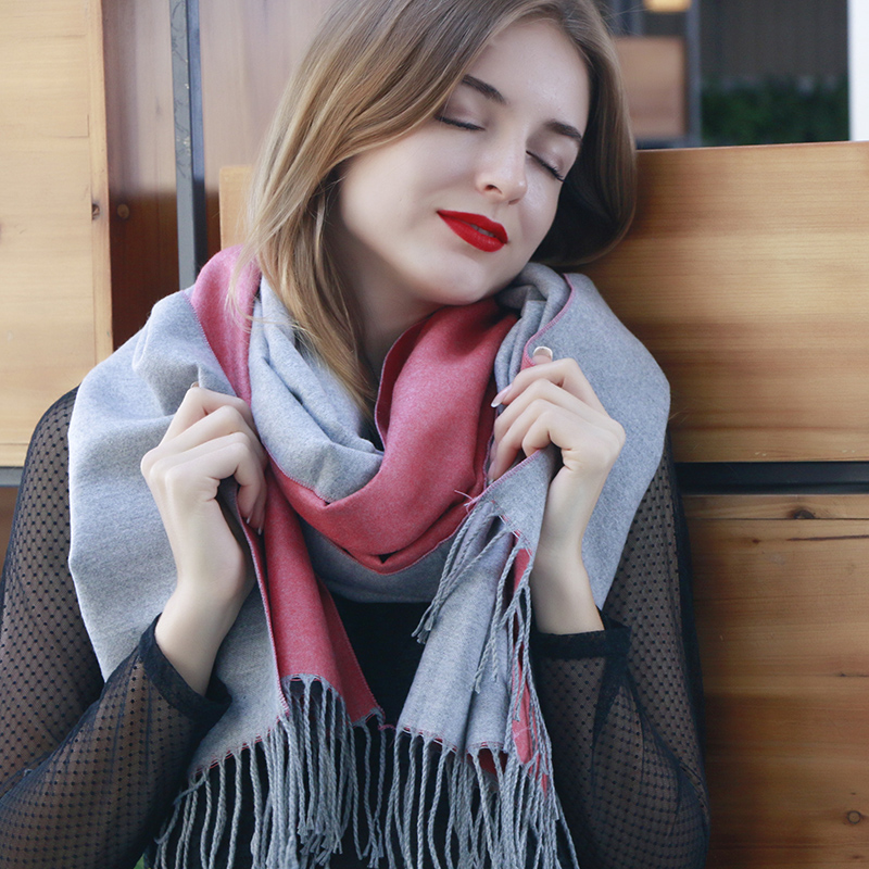 New Design Autumn Winter Solid Fashion Warm Soft Women Scarves Brand Long Wraps Shawls