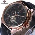 Relojes Hombre мужские часы Лидирующий бренд Роскошные автоматические механические часы Tourbillon часы кожаные повседневные деловые наручные часы