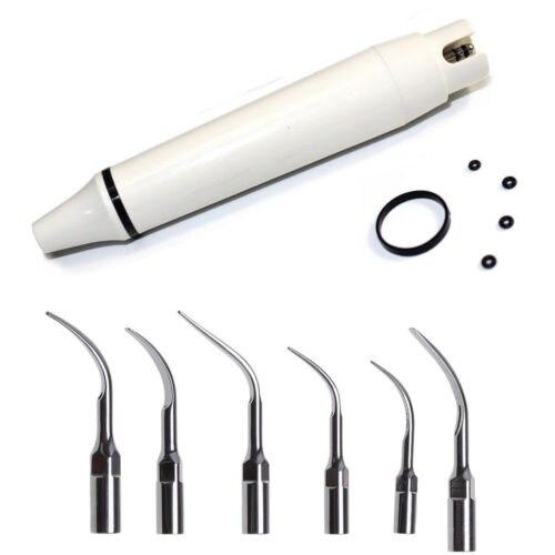 Pièce à main à ultrasons ZEG pour enlever le tartre DTE SATELEC avec 6 embouts dentaires